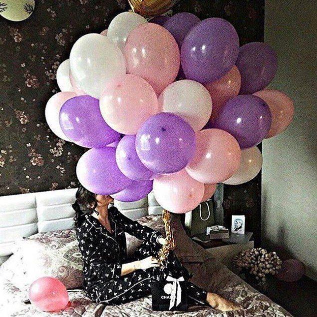 фиолетово-розово-белые шары
