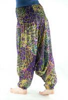 Разноцветные женские штаны алладины из хлопка. Купить в интернет магазине