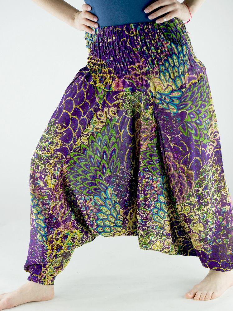 Индийские штаны алладины с разноцветным принтом (отправка из Индии)