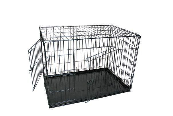 Клетка №4  91х58х64  2 двери пласт поддон для животных кошек собак щенков