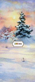 """Фон """"New year №4"""" 3x1,5 (3,5x1,5 м)"""