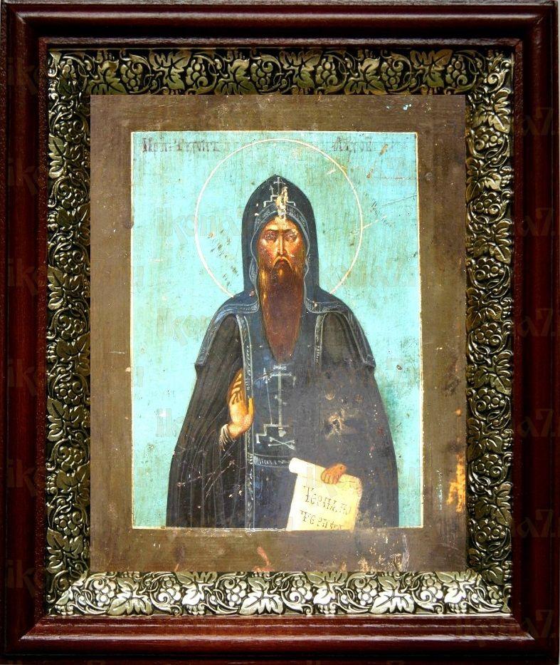 Тихон Луховской (19х22), темный киот