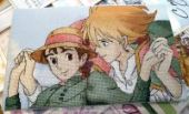 "Cross stitch pattern ""Howl's moving castle - 1""."