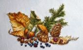 "Cross stitch pattern ""The flavors of the forest""."