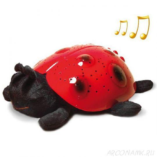 """Музыкальный ночник- проектор звездного неба """"Божья коровка"""""""
