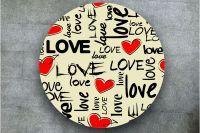Наклейка на стол - I love 2 | Купить фотопечать на стол в магазине Интерьерные наклейки