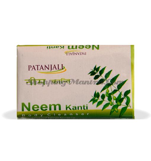 Мыло для лица и тела Ним Патанджали Аюрведа | Divya Patanjali Kanti Neem Soap