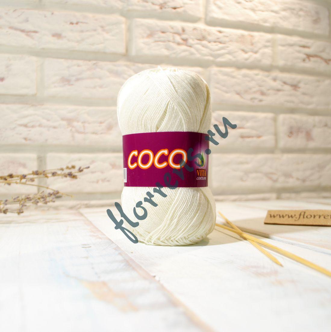 Пряжа Coco / 3853 молочный