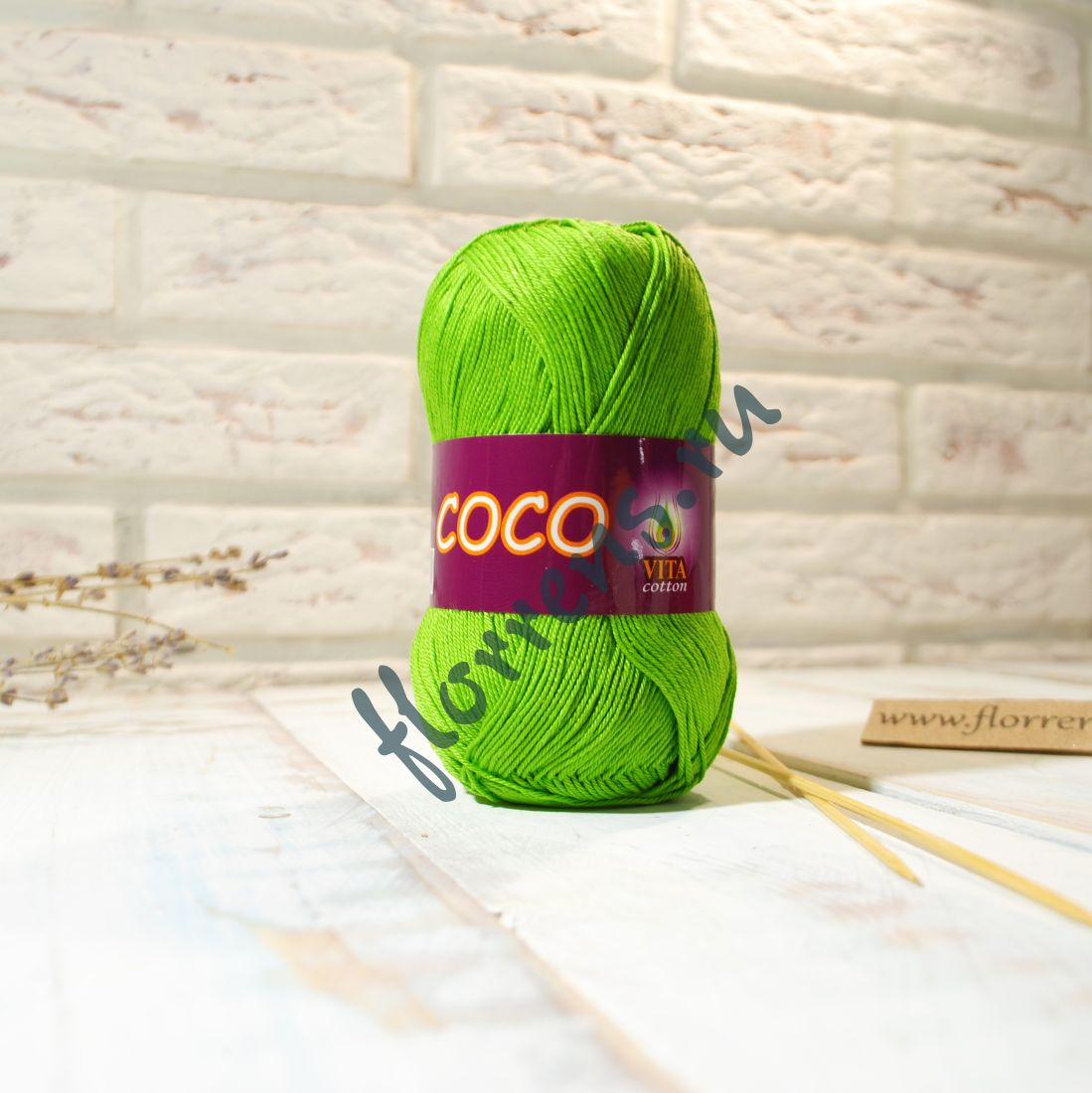 Пряжа Coco / 3861 ярко-зеленый