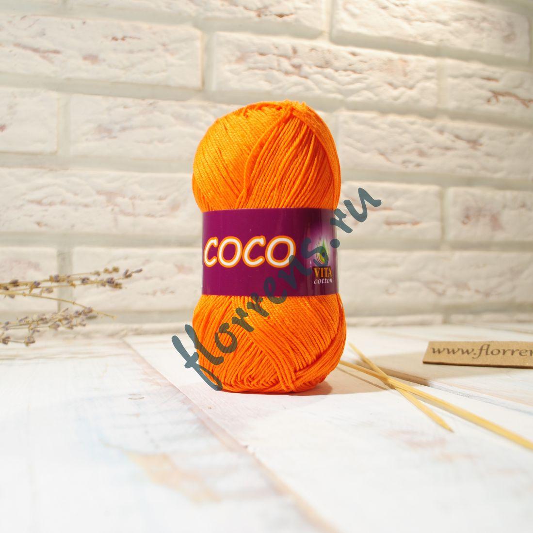 Пряжа Coco / 4305 морковный
