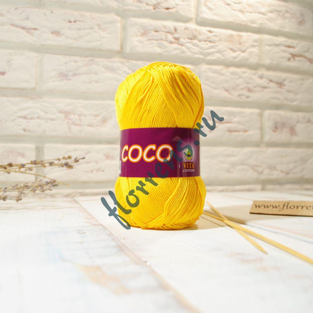 Пряжа Coco / 3863 желтый