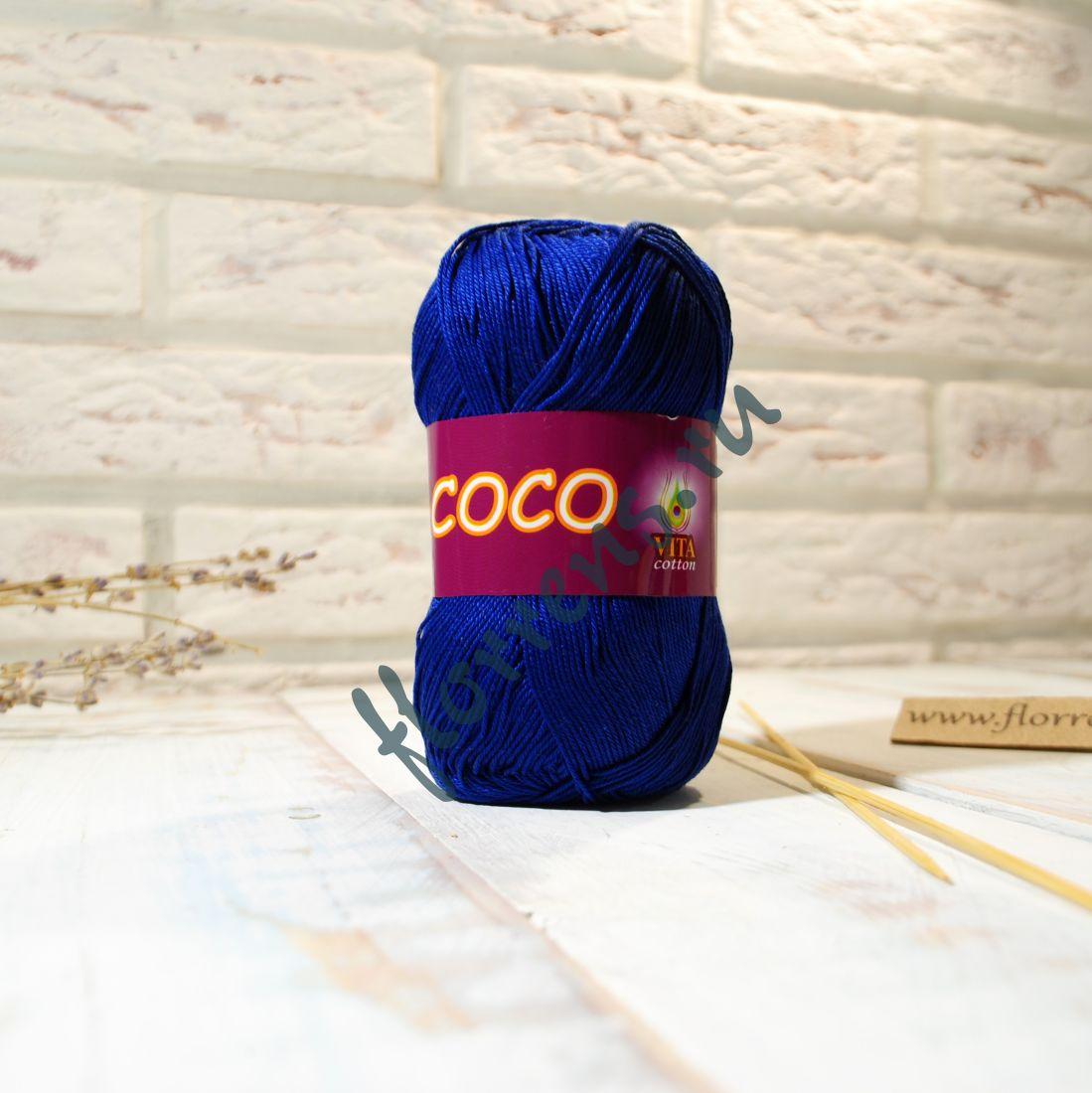 Пряжа Coco / 3857 синий