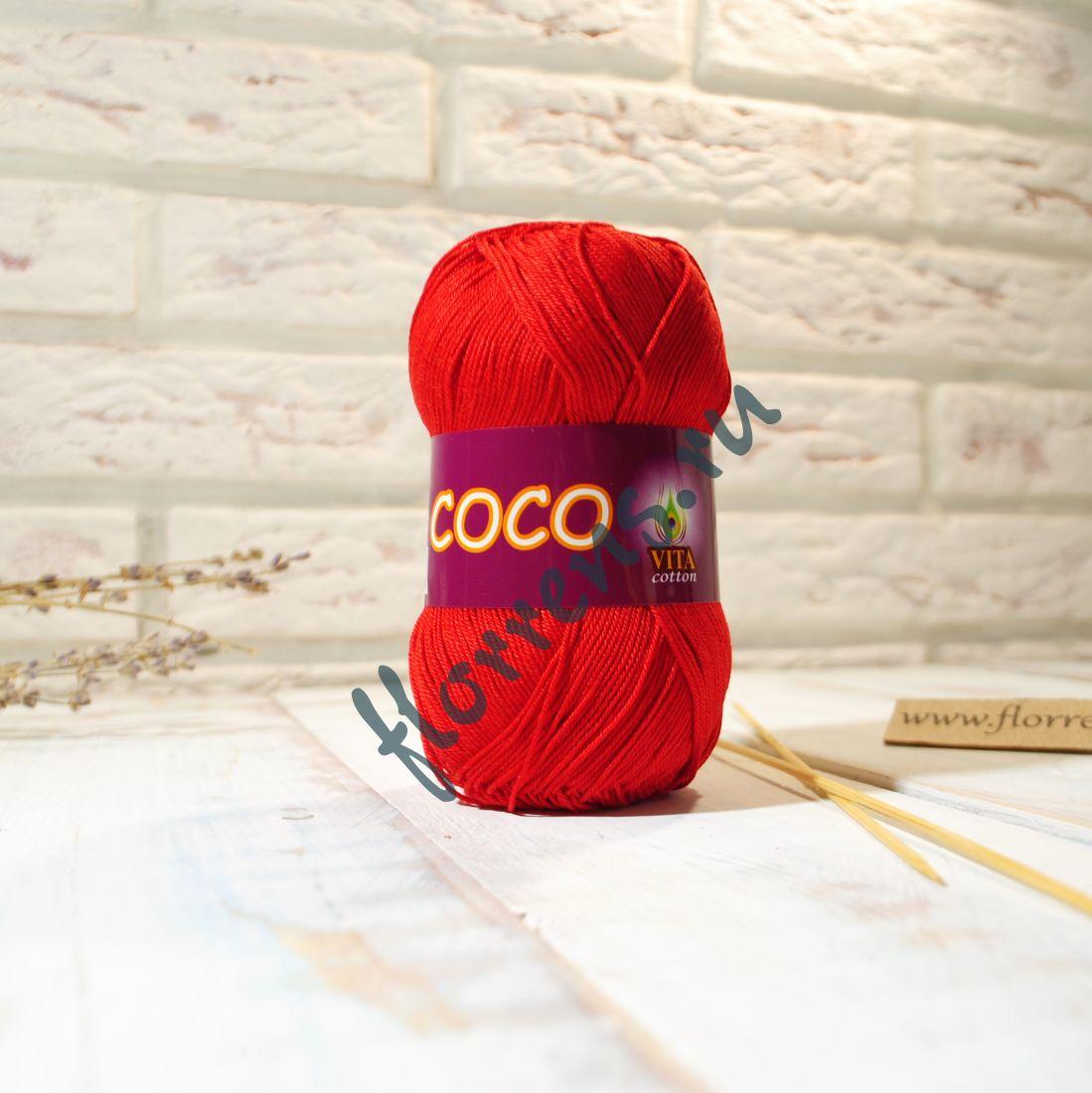 Пряжа Coco / 3856 красный