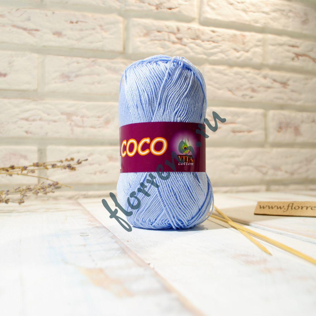 Пряжа Coco / 4323 светло-голубой