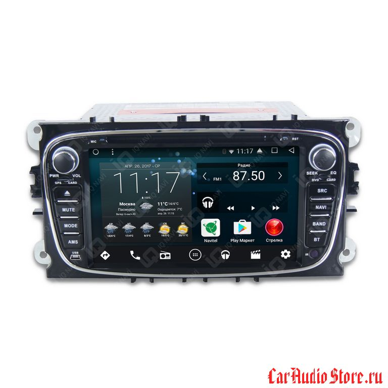 IQ NAVI D58-1402 FORD C-MAX I (2007-2010) ANDROID 6.0.1 QUAD-CORE (8 ЯДЕР) 7""