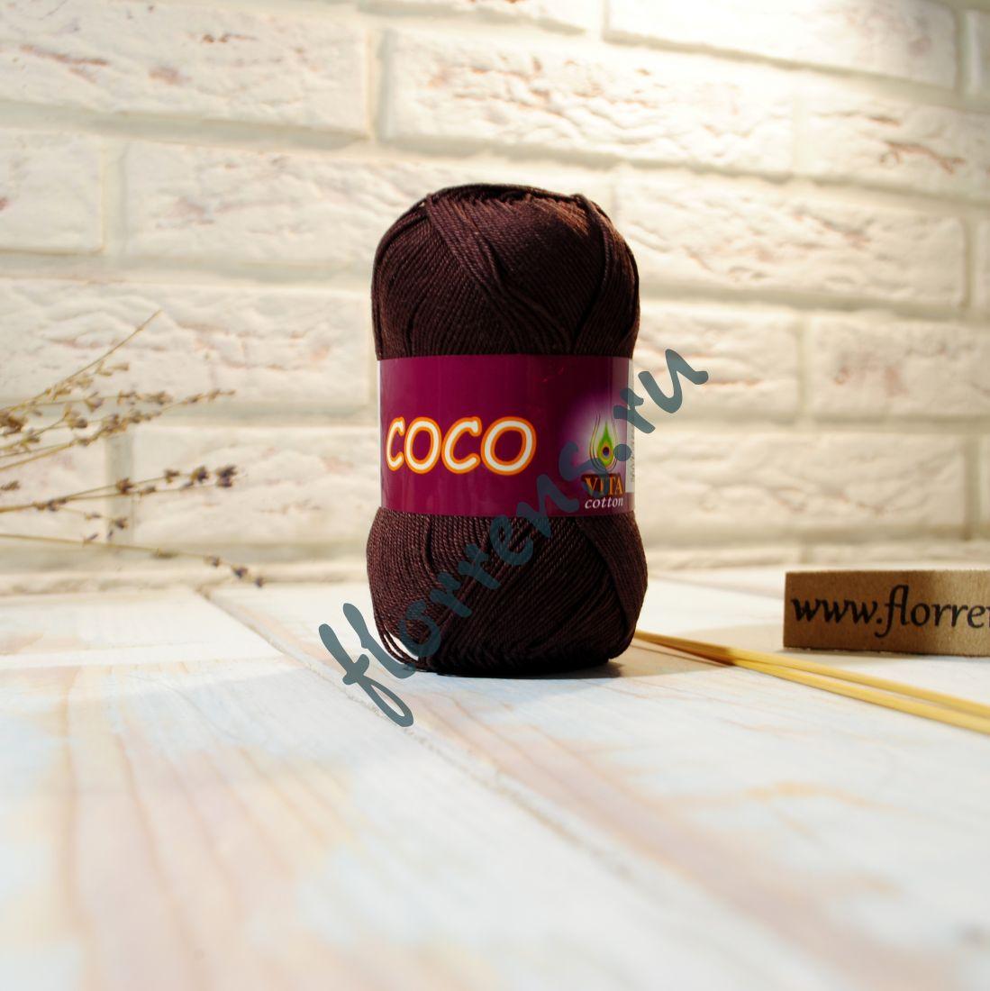 Пряжа Coco / 4322 темный шокоад