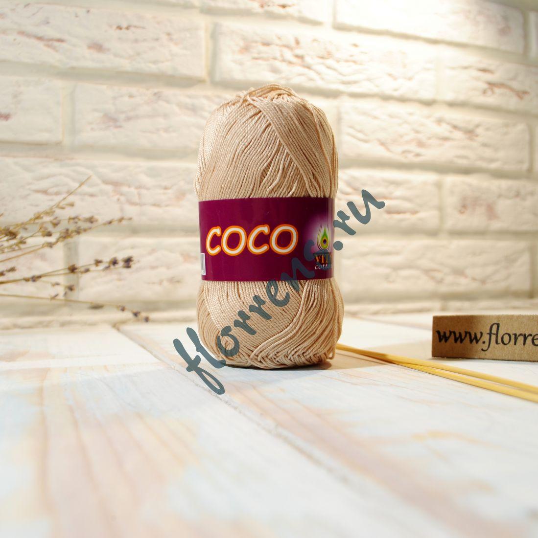 Пряжа Coco / 3889 песочный