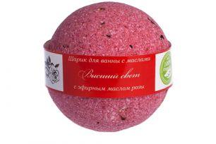 """""""Savonry"""" Бурлящий шарик для ванны  с увлаж. маслом ВЫСШИЙ СВЕТ (роза), 160гр"""
