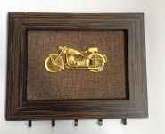 """Ключница деревянная """"Мотоцикл"""" (12382)"""