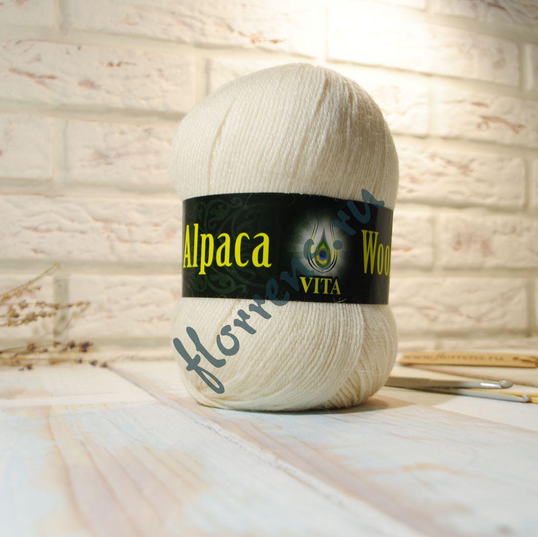 Пряжа Alpaca Wool / 2974 экрю