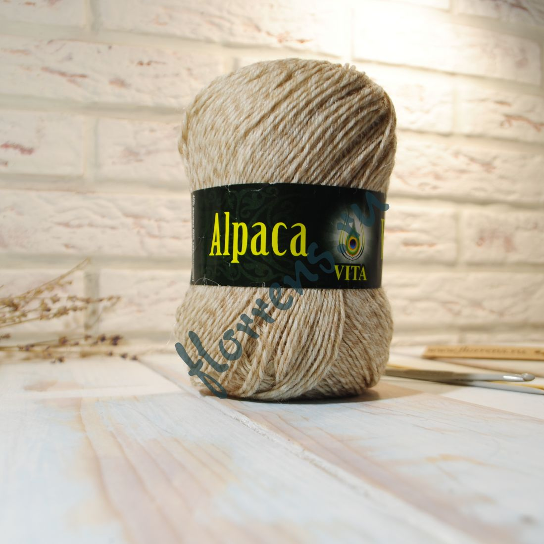 Пряжа Alpaca Wool / 2987 св. бежевое мулине