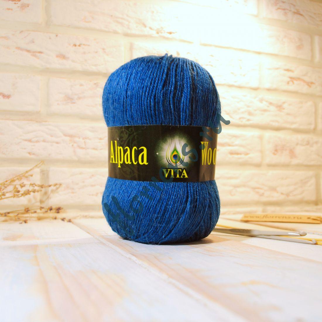 Пряжа Alpaca Wool / 2985 морская волна меланж