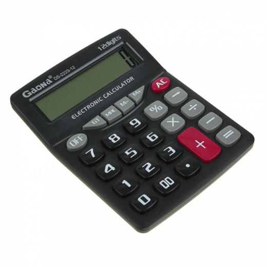 Калькулятор GAONA DS-222S-12 (12 разр.) настольный