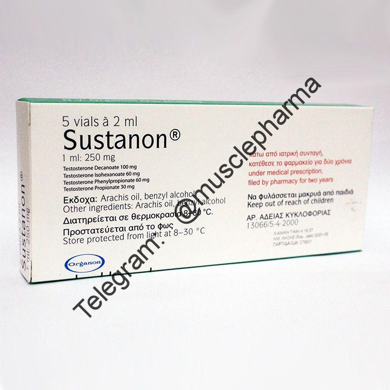 SUSTANON 250 (ORGANON). 5 флаконов * 2 мл.