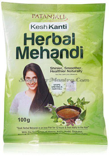 Натуральная хна для волос Патанджали Аюрведа / Divya Patanjali Herbal Mehandi