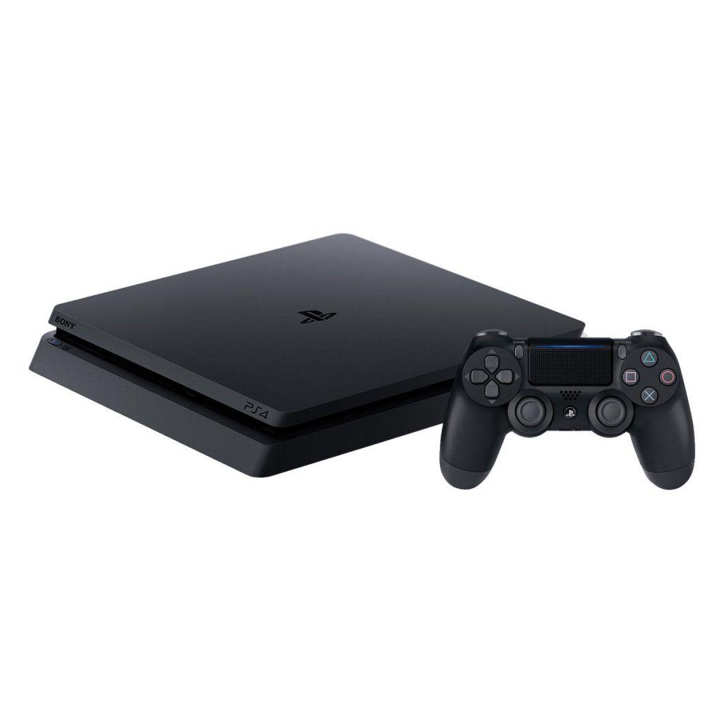 Sony PlayStation 4 Slim 500 ГБ + Игра Gran Turismo Sport + Силиконовый чехол для джойстика