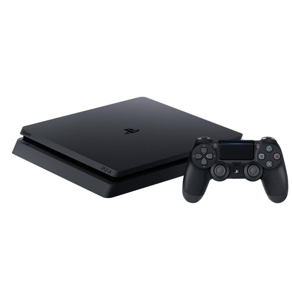 Sony PlayStation 4 Slim 500 ГБ (CUH-2208A) + Силиконовый чехол для джойстика