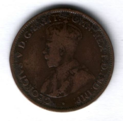 1/2 пенни 1912 г. Австралия, VF