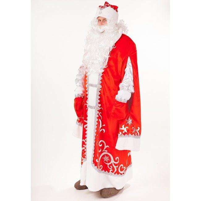 Костюм карнавальный Дед Мороз Премиум р.182-54-56