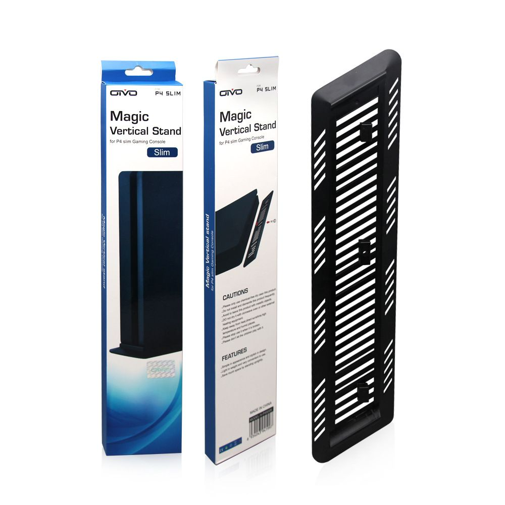 Вертикальная подставка для Sony Playstation 4 SLIM MAGIC VERTICAL STAND BLACK PS4 IV-P4S006 OIVO