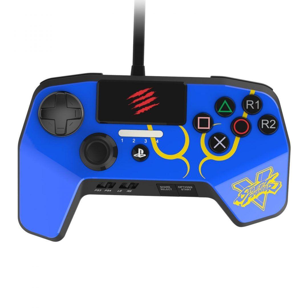 Джойстик Mad Catz Street Fighter FightPad PRO for PS 4/3 CHUN LI Синий
