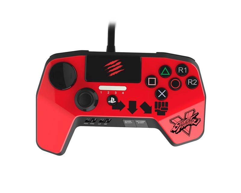Джойстик Mad Catz Street Fighter FightPad PRO for PS 4/3 KEN Красный
