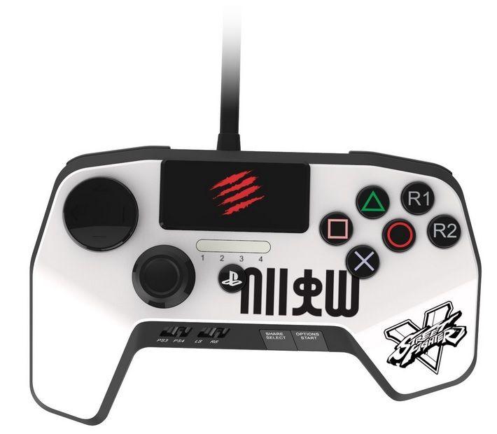 Джойстик Mad Catz Street Fighter FightPad PRO for PS 4/3 RYU Белый