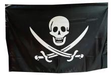Флаг Большой Пиратский Череп и сабли 90х150 см