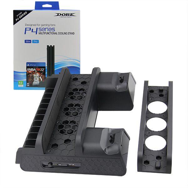 Мультифункциональная подставка Sony Playstation 4 PS4 SLIM & PRO с охлаждением TP4-882 DOBE