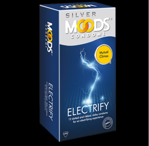 ПРЕЗЕРВАТИВЫ Moods Silver Electrify Condoms-12 шт