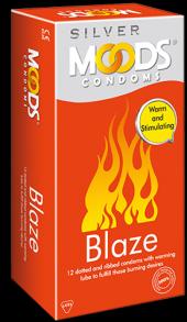 ПРЕЗЕРВАТИВЫ Moods Silver Blaze Condoms-12 шт