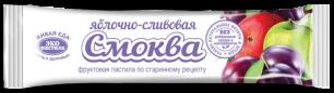 """""""Эко-пастила"""" Смоква фруктовая пастила Яблочно-Сливовая, 30гр."""
