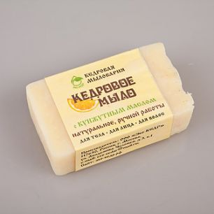 """""""Эко-кедр"""" Мыло кедровое с маслом кунжута(слад.апельсин), 115гр"""