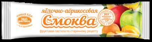 """""""Эко-пастила"""" Смоква фруктовая пастила Яблочно-Абрикосовая, 30гр."""