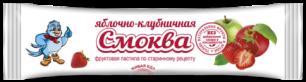 """""""Эко-пастила"""" Смоква """"Детская"""" фруктовая пастила Яблочная с клубникой, 15гр."""