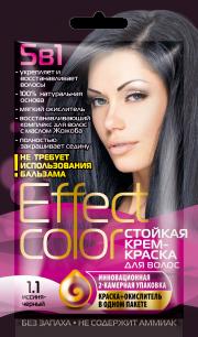 """""""fk"""" Cтойкая крем-краска для волос серии «Effect Сolor» 50мл, тон иссиня-черный"""
