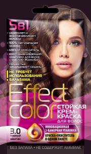 """""""fk"""" Cтойкая крем-краска для волос серии «Effect Сolor» 50мл, тон тёмный каштан"""