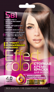 """""""fk"""" Cтойкая крем-краска для волос серии «Effect Сolor» 50мл, тон каштан"""