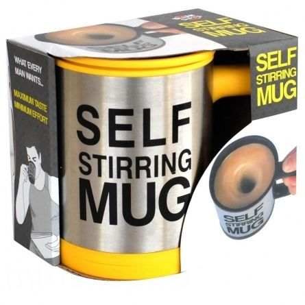 Кружка - миксер Self Stirring Mug жёлтая