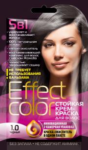"""""""fk"""" Cтойкая крем-краска для волос серии «Effect Сolor» 50мл, тон черный"""